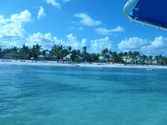 Tortuga Bay, Puntacana Resort & Club: more View of Tortuga Bay beach from boat ride