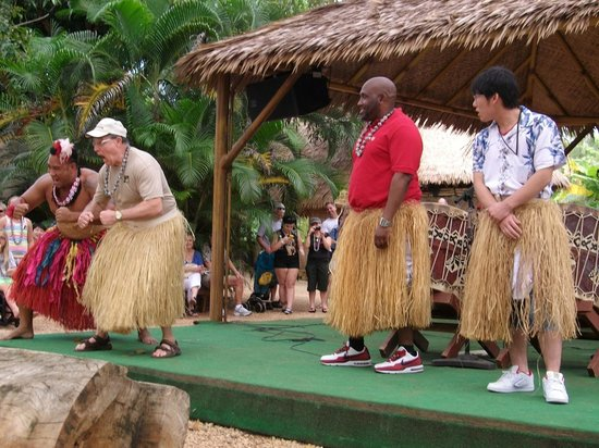 Polynesian Cultural Center: Tongan drumming show! Audience participation!