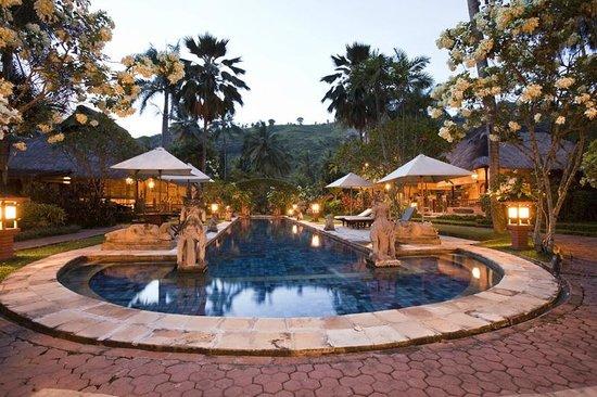 Puri Mas Spa Resort: Lap Pool by Night