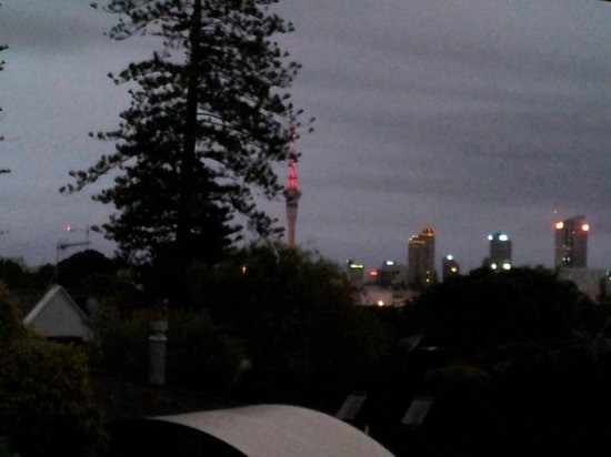 Ascot Parnell Boutique Bed and Breakfast: Nighttime view of the city