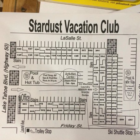 Stardust Lodge: Map of rooms