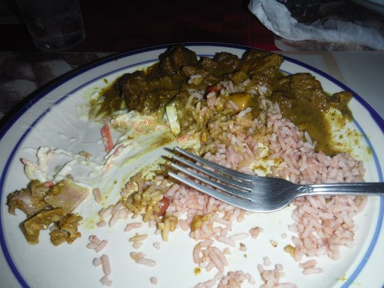Jacko and Jennys Restaurant: goat curry - i didn't take the picture quick enough i guess!