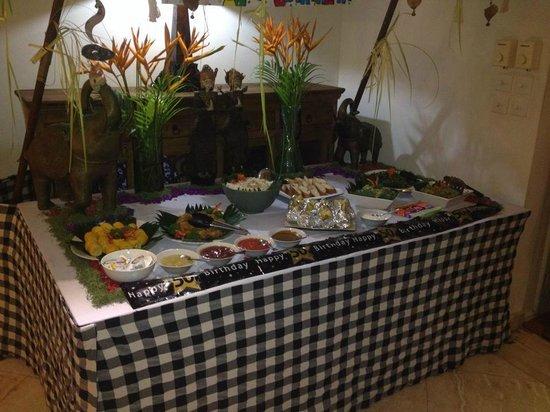 A feast prepared by Villa Coco