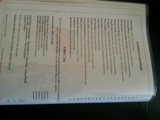 Kraut's Restaurant & Bar: Kraut's menu