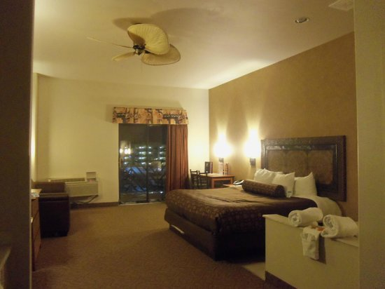 Kalahari Resorts & Conventions: Our king bed/jacuzzi suite was very clean and spacious