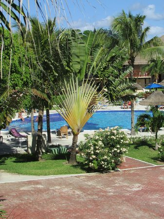 Allegro Playacar: The pool view from our room.