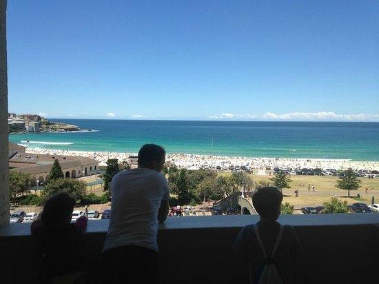 Hotel Bondi: View from the balcony, top floor, family room