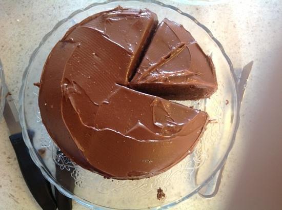 Cafe fortysix: chocolate fudge cake at Cafe 46