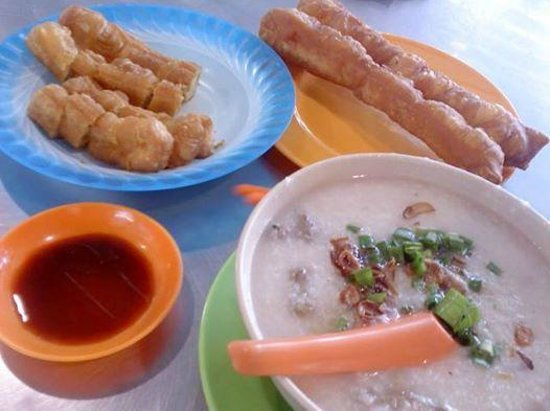 New Market: 'Youtiao' snacks at sandakan town central market,2nd flr food stall.
