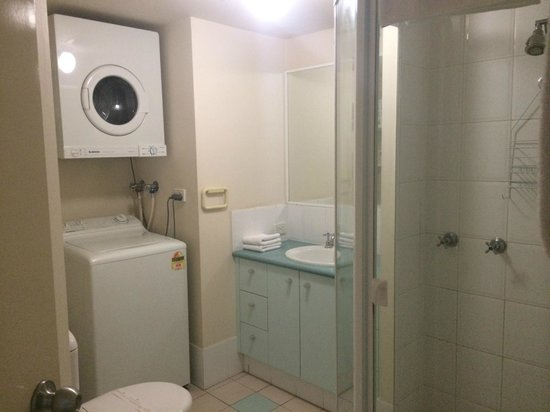 Goldsborough Place: bathroom and laundry in one