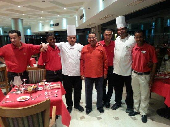 Shams Prestige Abu Soma Resort : Das Küchenteam im Sondereinsatz Valentinstag