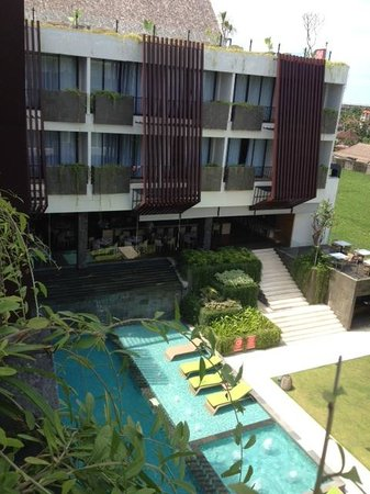 Four Points by Sheraton Bali, Seminyak: pool view from the balcony