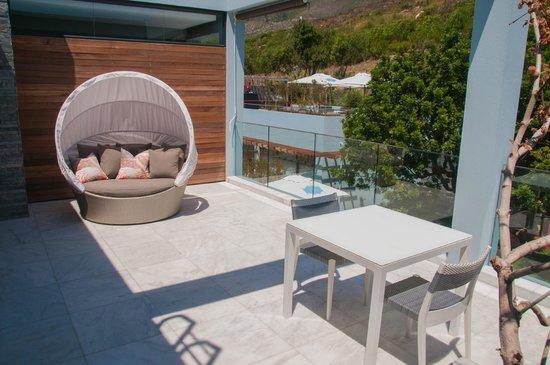 MannaBay : Terrasse des Flamingozimmer