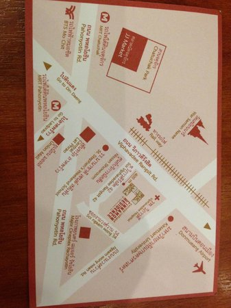 Cinnamon Residence: Back of their business card - map