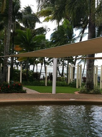 Coral Sands Beachfront Resort: View of grounds near pool