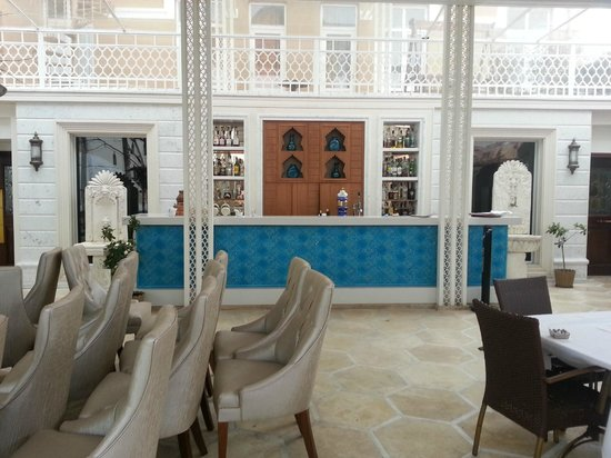Ottoman Hotel Imperial: Hotel bar and garden terrace, close during winter time