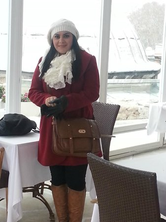 Ottoman Hotel Imperial: Me in the hotel winter terrace