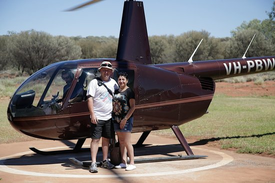 Professional Helicopter Services: A photo taken by Tara of the wife and I