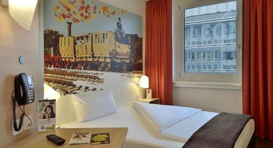 B&B Hotel Nürnberg-Hbf - Zimmer mit französischem Bett