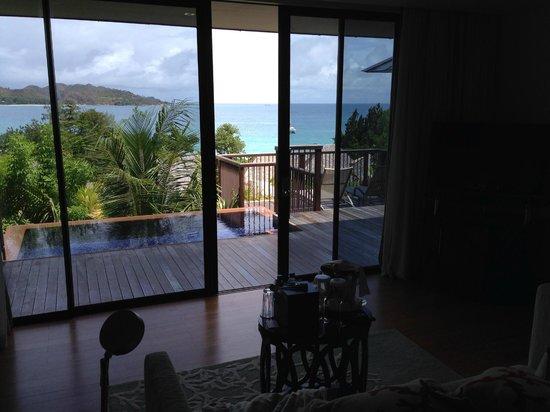 Raffles Seychelles : Вид с кровати