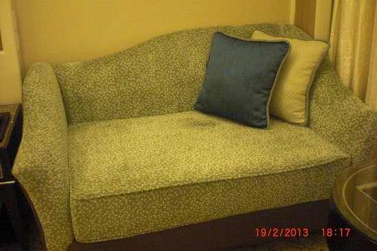 Edsa Shangri-La: Clear stains on couch in room
