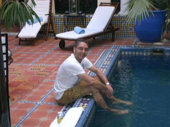 Riad 58 Blu: Plunge pool outside our suite