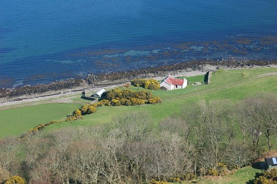 Kintyre Cottages: Aerial view of Fisherman's Cottage