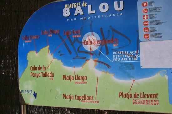 4R Playa Park: Карта с пляжами в районе отеля