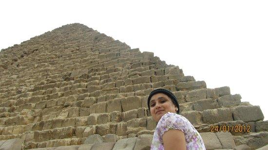 Ayman Ahmed - Tour Guide: Shikha at the Great Pyramid