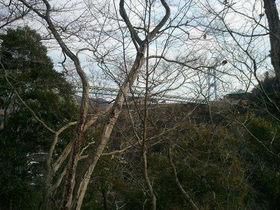 Ryujin Big Suspension Bridge: 下から見上げた所です。