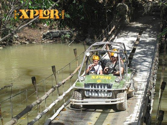Dreams Tulum Resort & Spa : Amphibious vehicle on Xplore tour