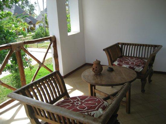 Uroa Bay Beach Resort : Balcon de notre chambre