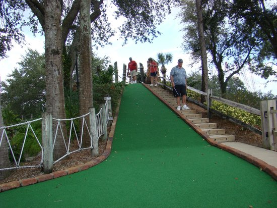 Pirate's Cove Adventure Golf: it's all downhill from here