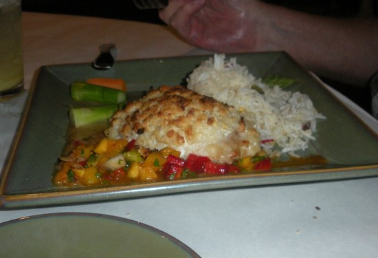 Traders: macacamia nut encrusted grouper