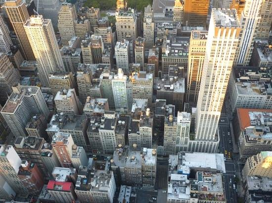 View from the Top of the Rock, Empire State Building observation deck.