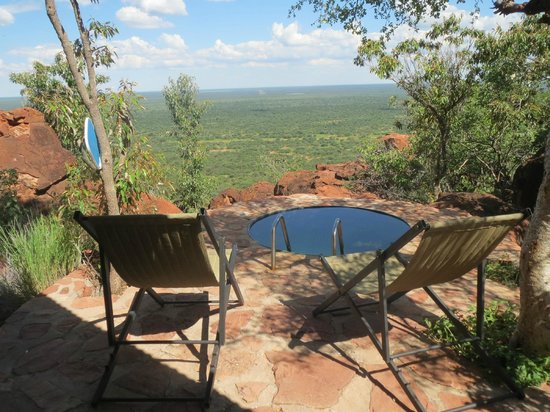 Waterberg Plateau Lodge: valley view from terrace