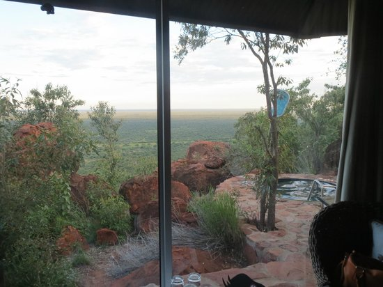 Waterberg Plateau Lodge: view from inside
