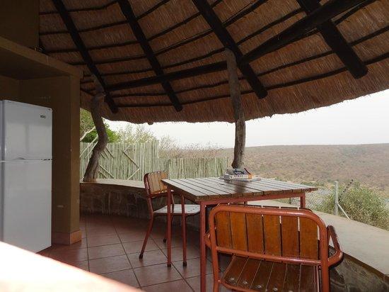 Olifants Rest Camp: terras met open keuken