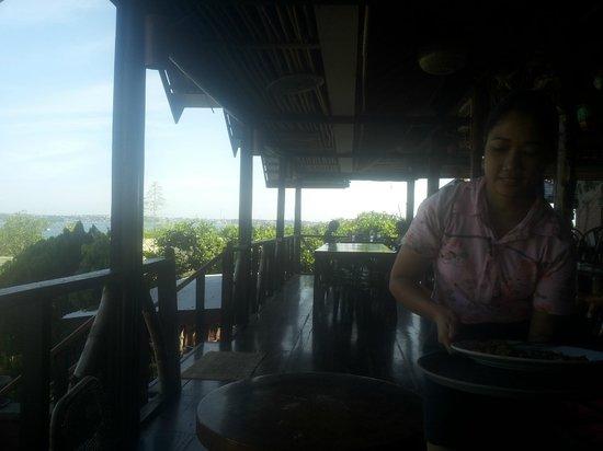 Marina De Bay: veranda con vista sulla baia