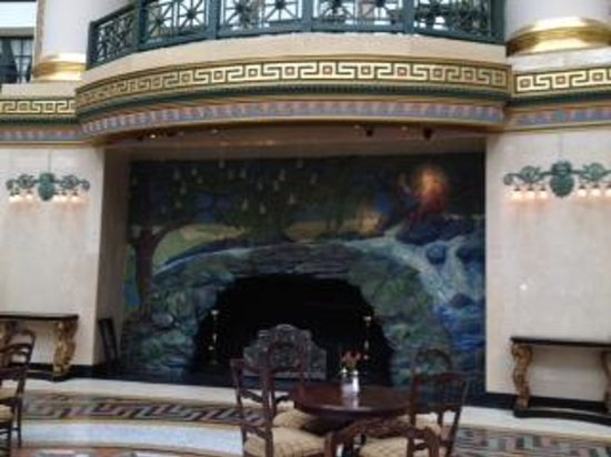 West Baden Springs Hotel : Fireplace in the atrium