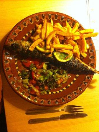 Nesebar - Restauracja Bulgarska: Delicious mackerel