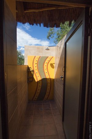 Ivory Tree Game Lodge: Open air shower