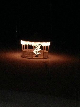 Mad River Inn Gazebo viewed at night while in hot tub!