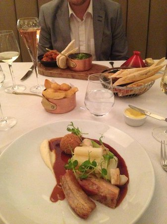 Marco Pierre White Steakhouse: Lamb tagine with couscous and pork belly mains (plus fat chips!)