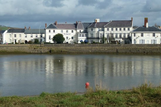 The Imperial Hotel: the Imperial from across the river Taw