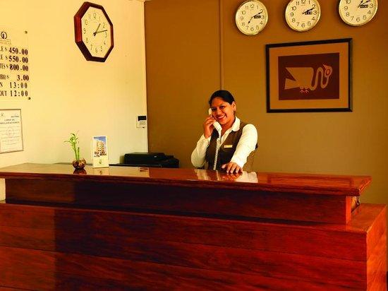 Hotel San Blas: Recepcion
