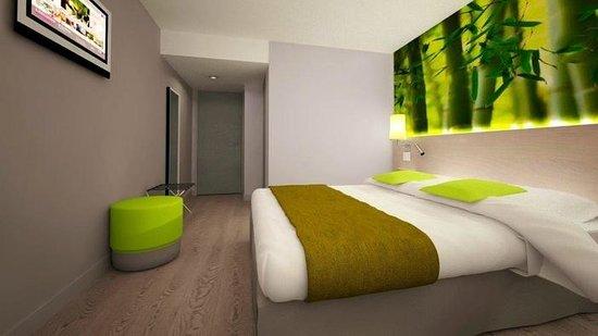 Inter-Hotel Le Garden Tours-Sud : Chambre verte