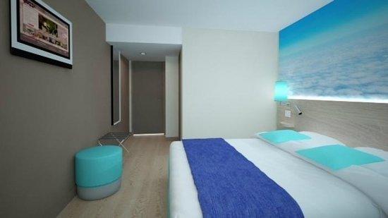 Inter-Hotel Le Garden Tours-Sud: Chambre bleu