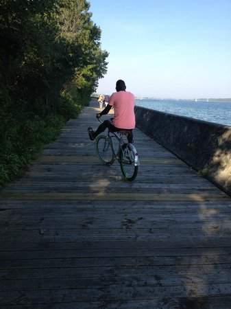 Centre Island: Boardwalk at Toronto Islands, bike ride.