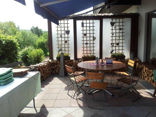 Landgasthof Hotel Pröll: Aussenbereich Terrasse